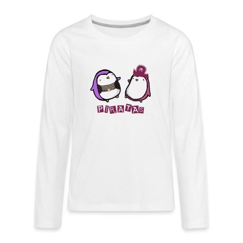 PINGUINOSPIRATAS - Camiseta de manga larga premium adolescente