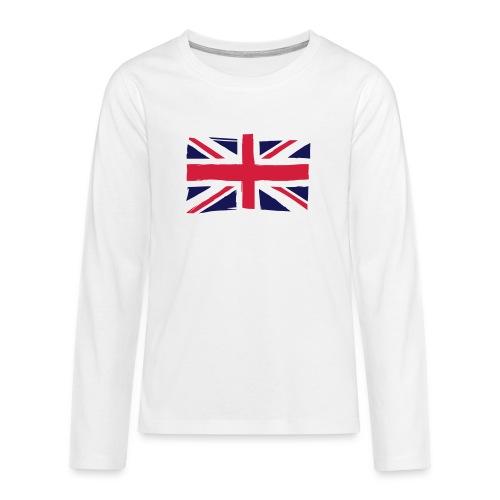 vlag engeland - Teenager Premium shirt met lange mouwen