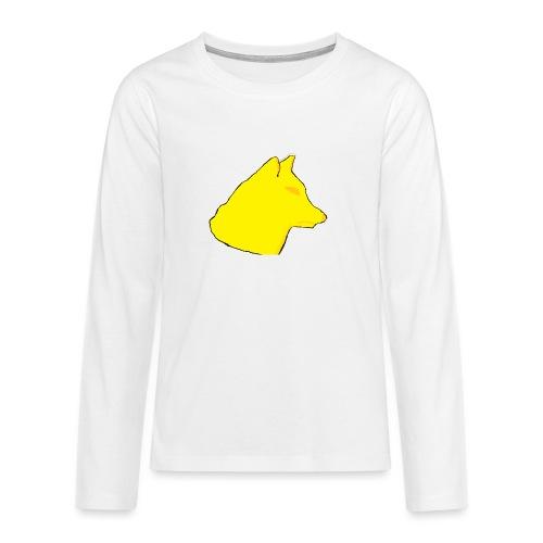 wolfes - Teenager premium T-shirt med lange ærmer