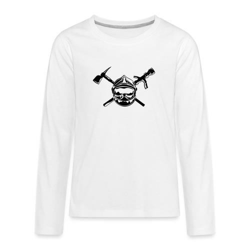 casque_pompier_hache et lance - T-shirt manches longues Premium Ado