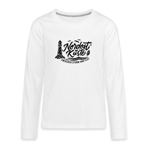 Nordost Küste Logo #6 - Teenager Premium Langarmshirt