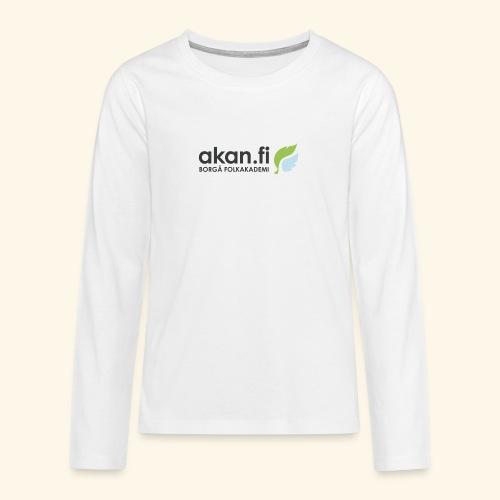 Akan Black - Teinien premium pitkähihainen t-paita
