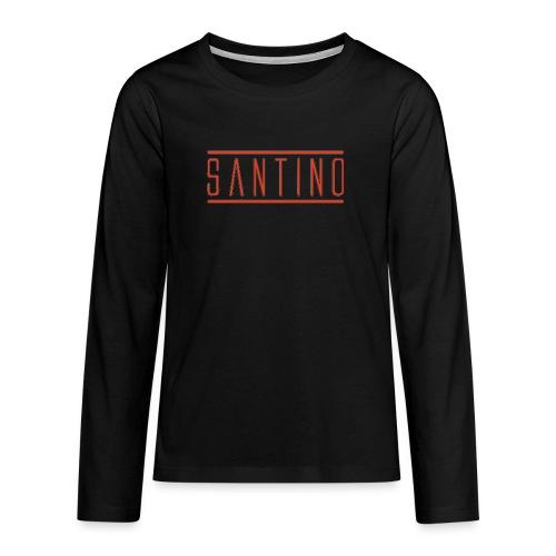 orange noir - T-shirt manches longues Premium Ado