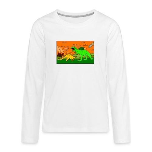 Schneckosaurier von dodocomics - Teenager Premium Langarmshirt