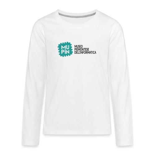 Logo Mupin con scritta - Maglietta Premium a manica lunga per teenager