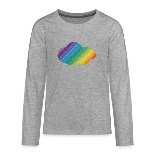 Regnbågsmoln - Långärmad premium T-shirt tonåring