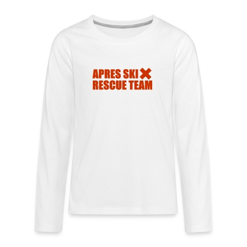 apres-ski rescue team - Teenager Premium shirt met lange mouwen