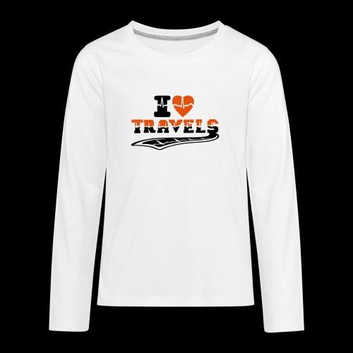 i love travels surprises 2 col - Teenagers' Premium Longsleeve Shirt