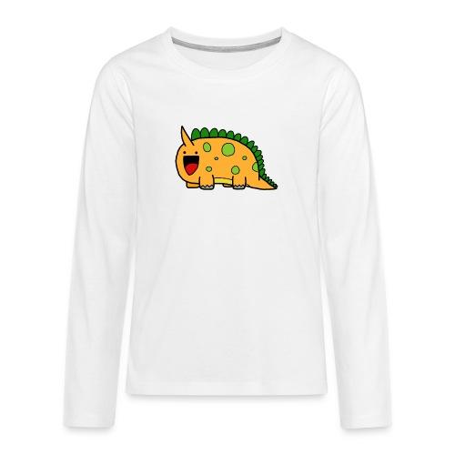 cute-dinosaur-clipart-panda-free-clipart-images-Yj - Maglietta Premium a manica lunga per teenager