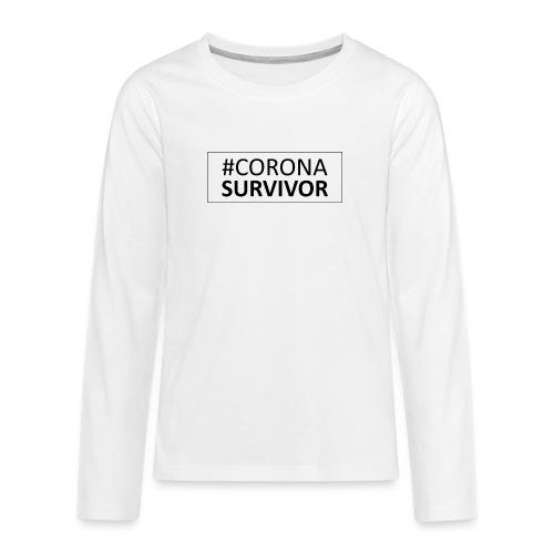 corona virus survivor - Teenagers' Premium Longsleeve Shirt