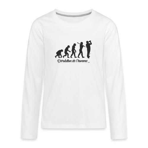 évolution homme (H) - T-shirt manches longues Premium Ado