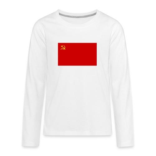 Eipä kestä - Teinien premium pitkähihainen t-paita
