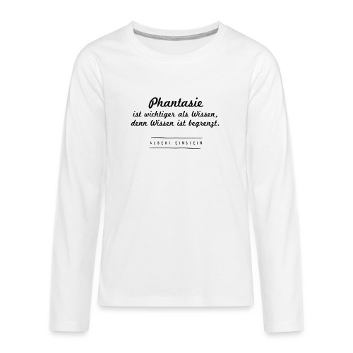 Phantasie vs. Wissen - Teenager Premium Langarmshirt