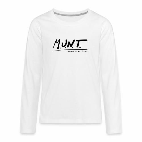 Munt - Teenager Premium shirt met lange mouwen