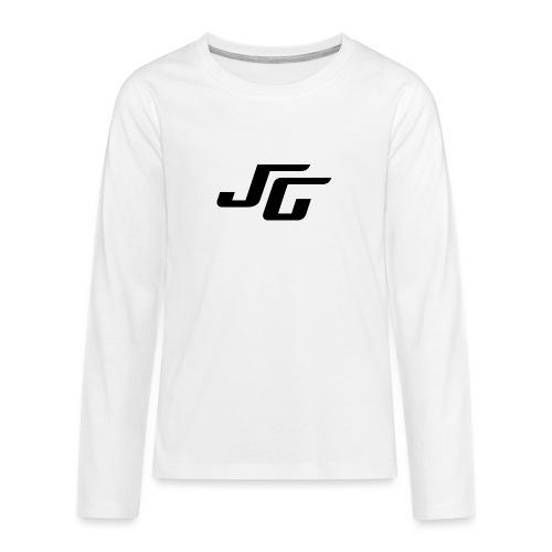 JG Logo schwarz - Teenager Premium Langarmshirt