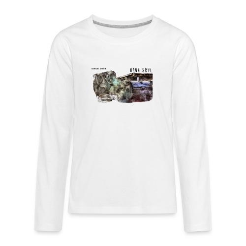 gas mask 2 black - Teenager Premium Langarmshirt