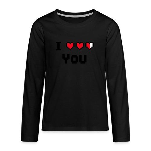 I pixelhearts you - Teenager Premium shirt met lange mouwen