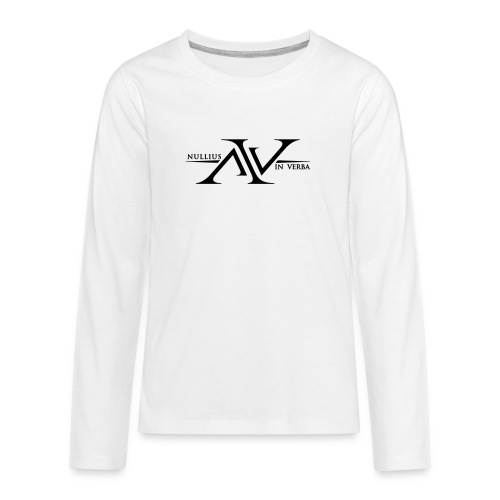 Nullius In Verba Logo - Teenagers' Premium Longsleeve Shirt