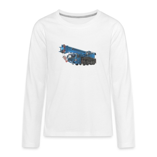 Mobile Crane 4-axle - Blue - Teenagers' Premium Longsleeve Shirt