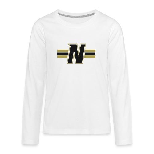 Nordic Steel Black N with stripes - Teenagers' Premium Longsleeve Shirt