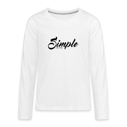 Simple: Clothing Design - Teenagers' Premium Longsleeve Shirt