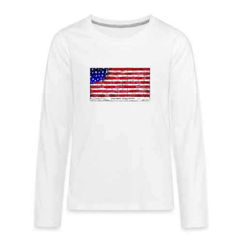 Good Night Human Rights - Teenagers' Premium Longsleeve Shirt