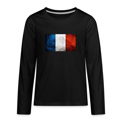 France Flag - Teenagers' Premium Longsleeve Shirt