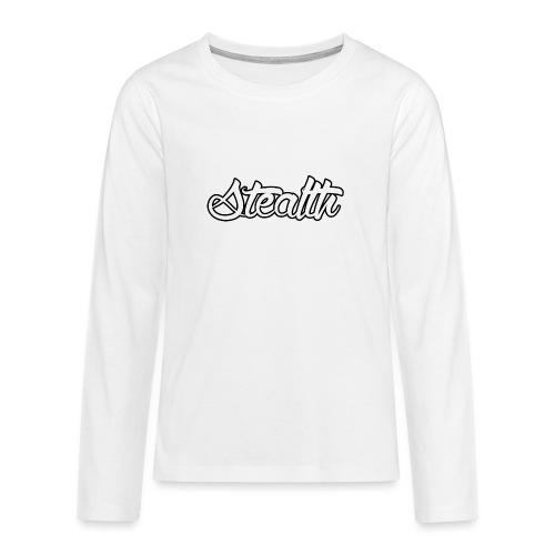 Stealth White Merch - Teenagers' Premium Longsleeve Shirt