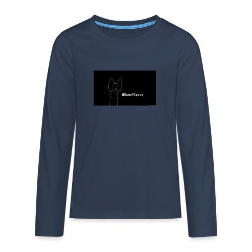 biisonivauva - Teinien premium pitkähihainen t-paita