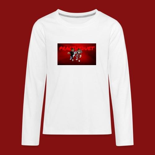 Pral - Långärmad premium T-shirt tonåring