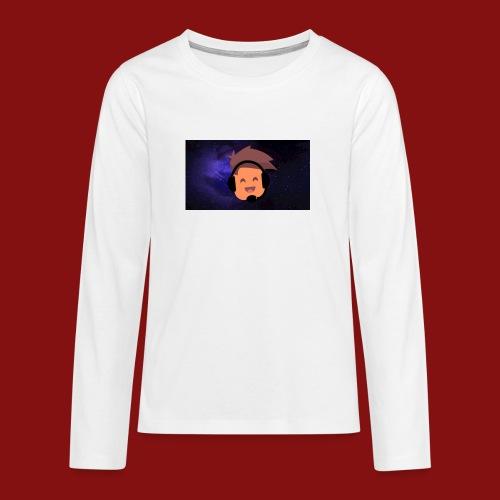 ProfilBild RymdBakgrund - Långärmad premium T-shirt tonåring