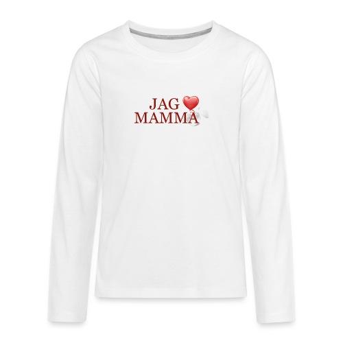Jag älskar mamma - Långärmad premium T-shirt tonåring