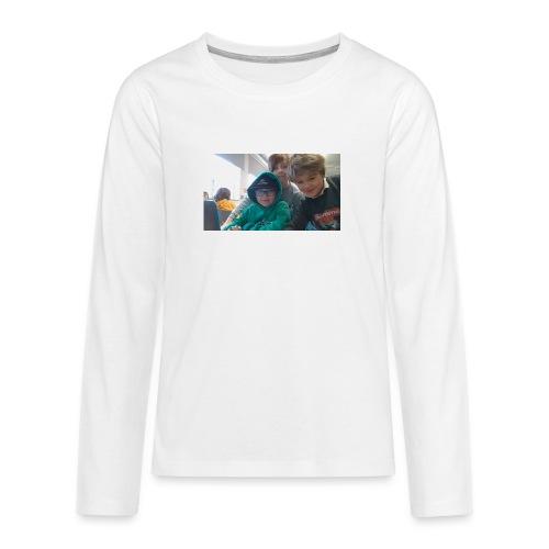 hihi - Långärmad premium T-shirt tonåring
