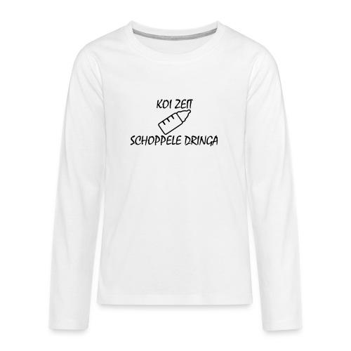 KoiZeit - Schoppele - Teenager Premium Langarmshirt