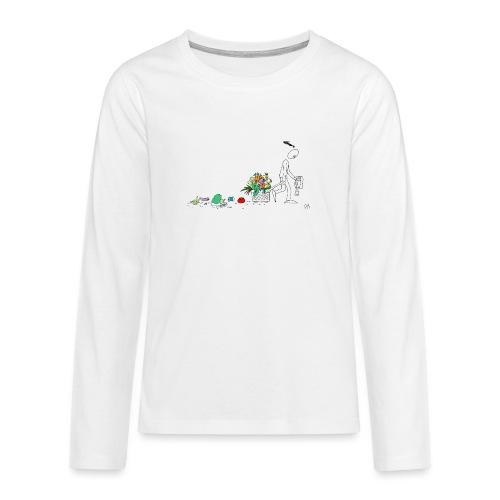 frukt og grønt handleveske - Premium langermet T-skjorte for tenåringer