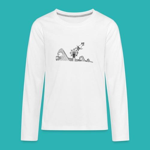 Carta_timone-png - Maglietta Premium a manica lunga per teenager