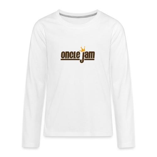 Oncle Jam horizontal brun - T-shirt manches longues Premium Ado