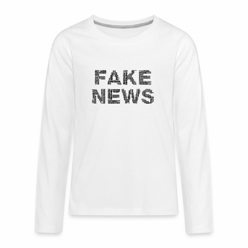 Falsche Nachrichten - Teenager Premium Langarmshirt
