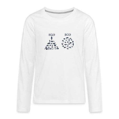 Ego VS Eco - Maglietta Premium a manica lunga per teenager