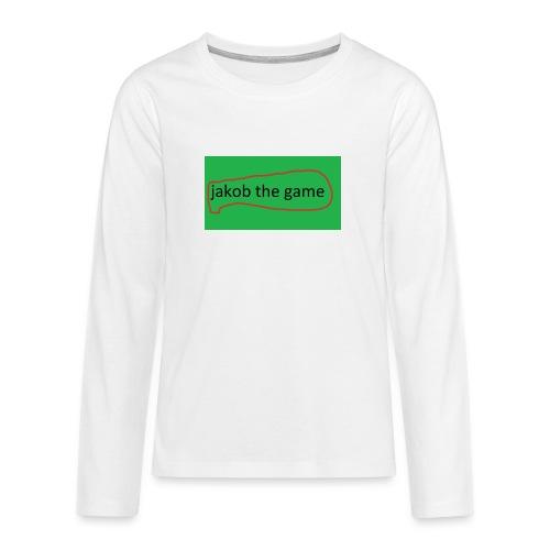 jakob the game - Teenager premium T-shirt med lange ærmer