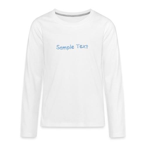 SAMPLE TEXT CAP - Teenagers' Premium Longsleeve Shirt