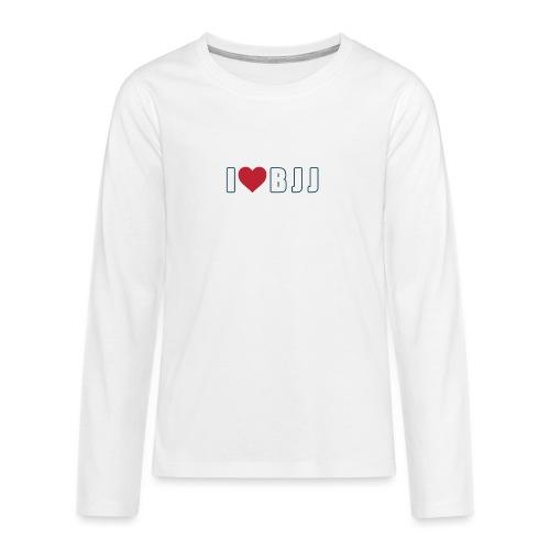 i love bjj - Koszulka Premium z długim rękawem dla nastolatków