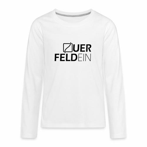 Querfeldein Logo - Teenager Premium Langarmshirt