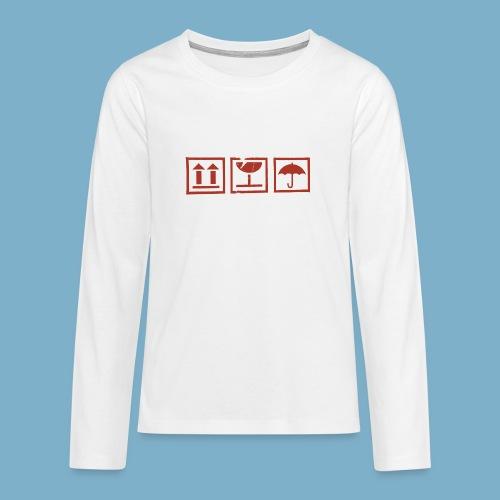 Zerbrechlich - Teenager Premium Langarmshirt