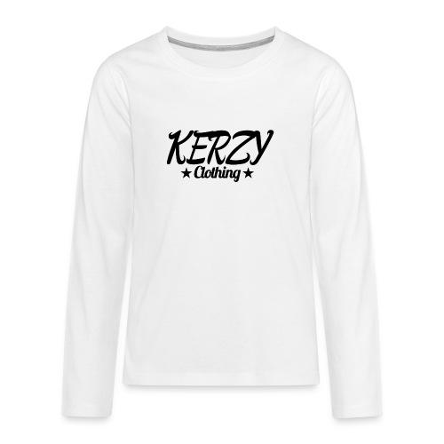 Official KerzyClothing T-Shirt Black Edition - Teenagers' Premium Longsleeve Shirt