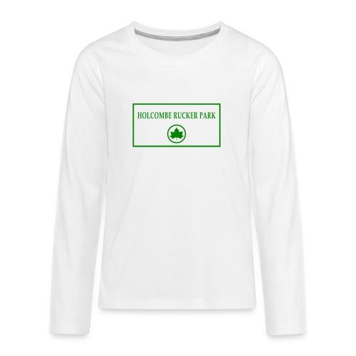 RuckerPark - Maglietta Premium a manica lunga per teenager