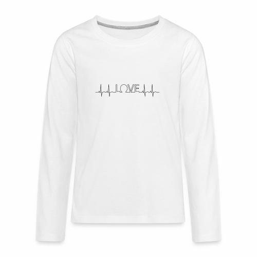 Liebe Herzschlag - Teenager Premium Langarmshirt