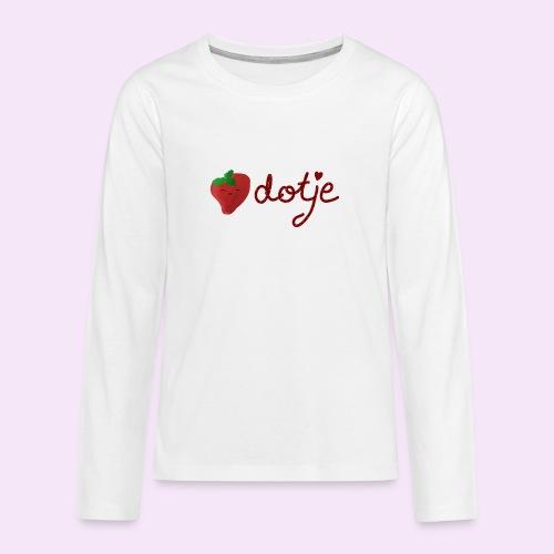 Baby aardbei Dotje - cute - Teenager Premium shirt met lange mouwen