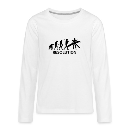 Resolution Evolution Army - Teenagers' Premium Longsleeve Shirt