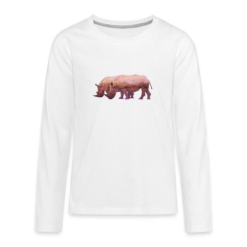 Nashorn Alpen - Teenager Premium Langarmshirt